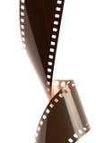 被扭转的35mm影片 免版税库存照片