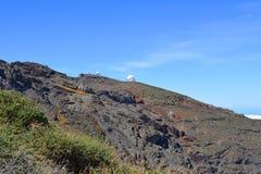 被找出的天文学观测所 国家公园 la palma海岛 免版税库存照片