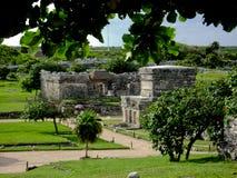 被找出的玛雅墨西哥半岛破坏tulum尤加坦 库存图片