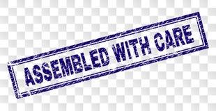被抓的小心被装配的长方形邮票 向量例证