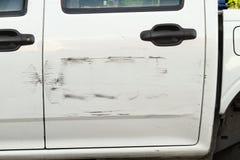 被抓的汽车油漆 库存图片