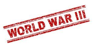 被抓的织地不很细世界大战III邮票封印 库存例证