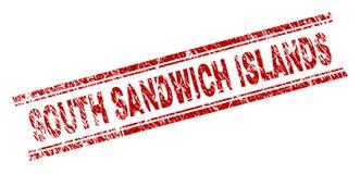 被抓的织地不很细南桑威奇群岛邮票封印 向量例证