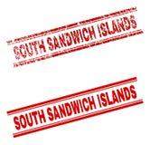 被抓的织地不很细南桑威奇群岛邮票封印 库存例证
