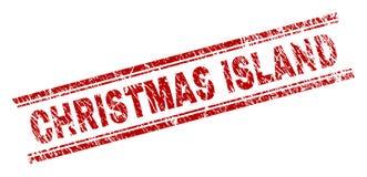 被抓的织地不很细圣诞岛邮票封印 向量例证