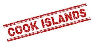 被抓的织地不很细库克群岛邮票封印 库存例证