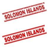 被抓的织地不很细所罗门群岛邮票封印 库存例证