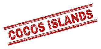 被抓的织地不很细科科岛邮票封印 皇族释放例证