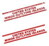 被抓的织地不很细美国本土外小岛屿邮票封印 库存例证