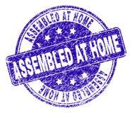 被抓的织地不很细被装配的在家邮票封印 库存例证
