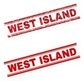 被抓的织地不很细西部海岛邮票封印 库存例证