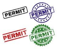 被抓的织地不很细许可证封印邮票 向量例证