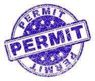 被抓的织地不很细许可证邮票封印 向量例证