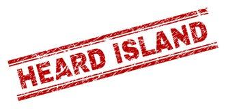 被抓的织地不很细赫德岛邮票封印 皇族释放例证