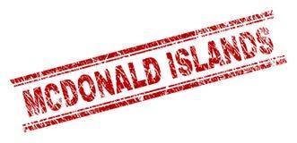 被抓的织地不很细麦克唐纳海岛邮票封印 皇族释放例证