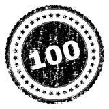 被抓的织地不很细100张邮票封印 向量例证