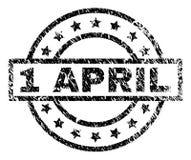 被抓的织地不很细4月1日邮票封印 向量例证