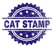 被抓的织地不很细CAT邮票封印 向量例证