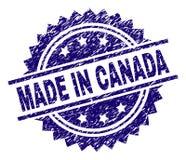 被抓的被构造的加拿大制造邮票封印 库存例证