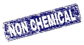 被抓的非化学制品被构筑的被环绕的长方形邮票 向量例证