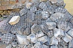 被投下的建筑石头 库存图片