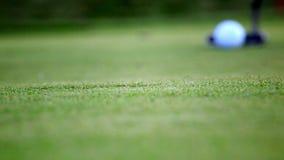 被投入的高尔夫球 股票录像