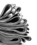 被折叠和被堆积的报纸 库存照片