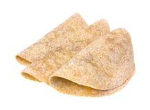 被折叠的全麦玉米饼 免版税库存照片
