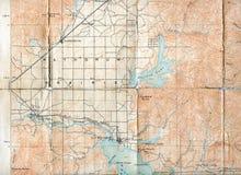 1903被折叠的地图 库存照片