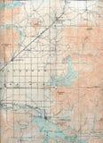 1903被折叠的地图 免版税图库摄影