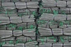 被折叠的塑料袋 免版税库存照片