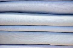 被折叠的床单或鸭绒垫子盖子 免版税库存照片