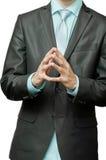 被折叠的手指 免版税库存照片