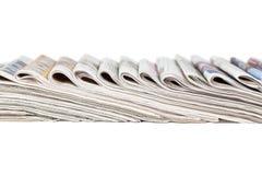 被折叠的报纸的分类 免版税图库摄影