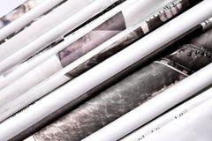 被折叠的报纸背景 库存照片