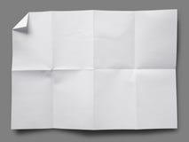 被折叠的整页纸张白色 免版税图库摄影