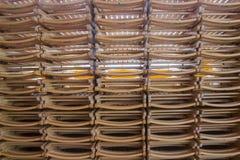 被折叠的木椅子 库存图片
