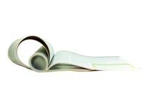 被折叠的杂志 免版税图库摄影