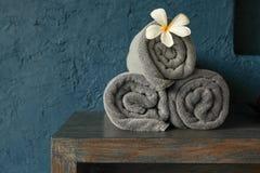 被折叠的毛巾 免版税库存图片