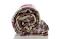 被折叠的毯子 库存图片