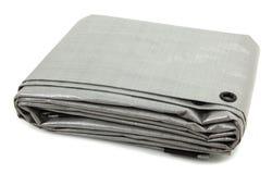被折叠的灰色篷布 免版税库存图片