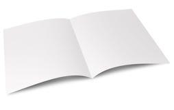 被折叠的空白传单 库存图片
