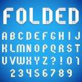 被折叠的纸字体 皇族释放例证
