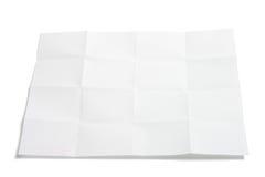 被折叠的纸部分 库存图片