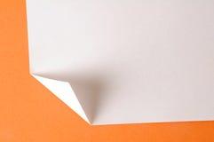 被折叠的纸 免版税图库摄影