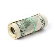 被折叠的美元 免版税图库摄影