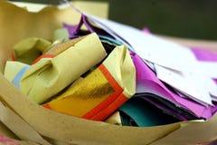被折叠的课程纸张 免版税库存照片