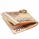 被折叠的货币 免版税库存照片