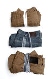被折叠的长裤 免版税库存照片