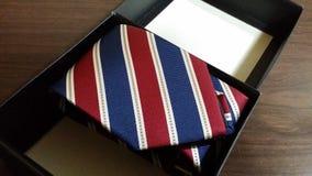 被折叠的领带 免版税库存图片